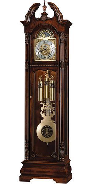Howard Miller Ramsey 611 084 Grandfather Clock Grandfather Clock Silver Wall Clock Antique Clocks