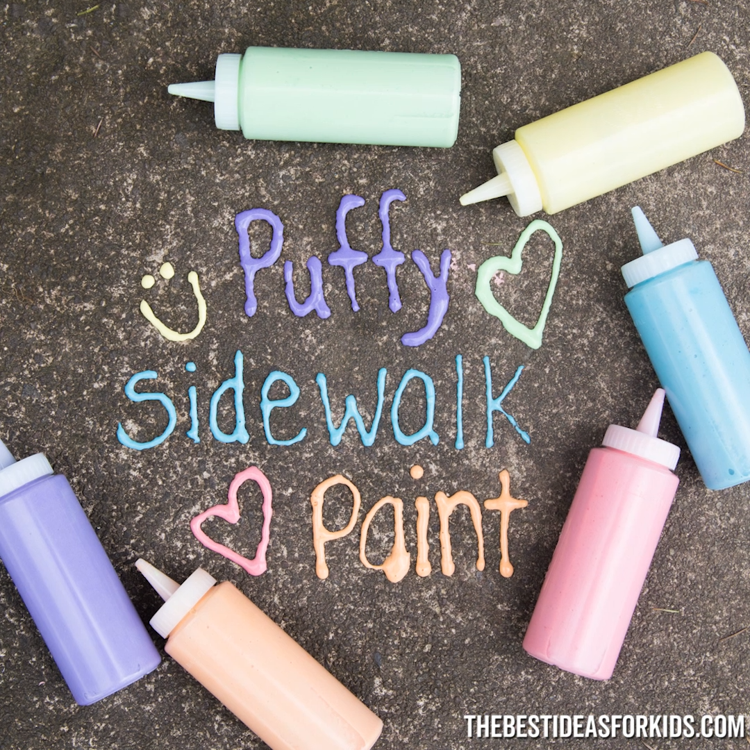 Puffy Sidewalk Paint - such a fun activity for kids!