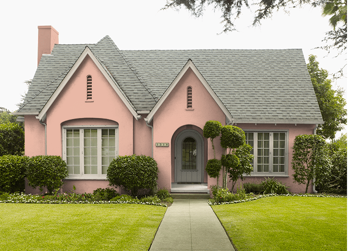 Behr Pink Abalone Paint Color Of The Month Exterior House