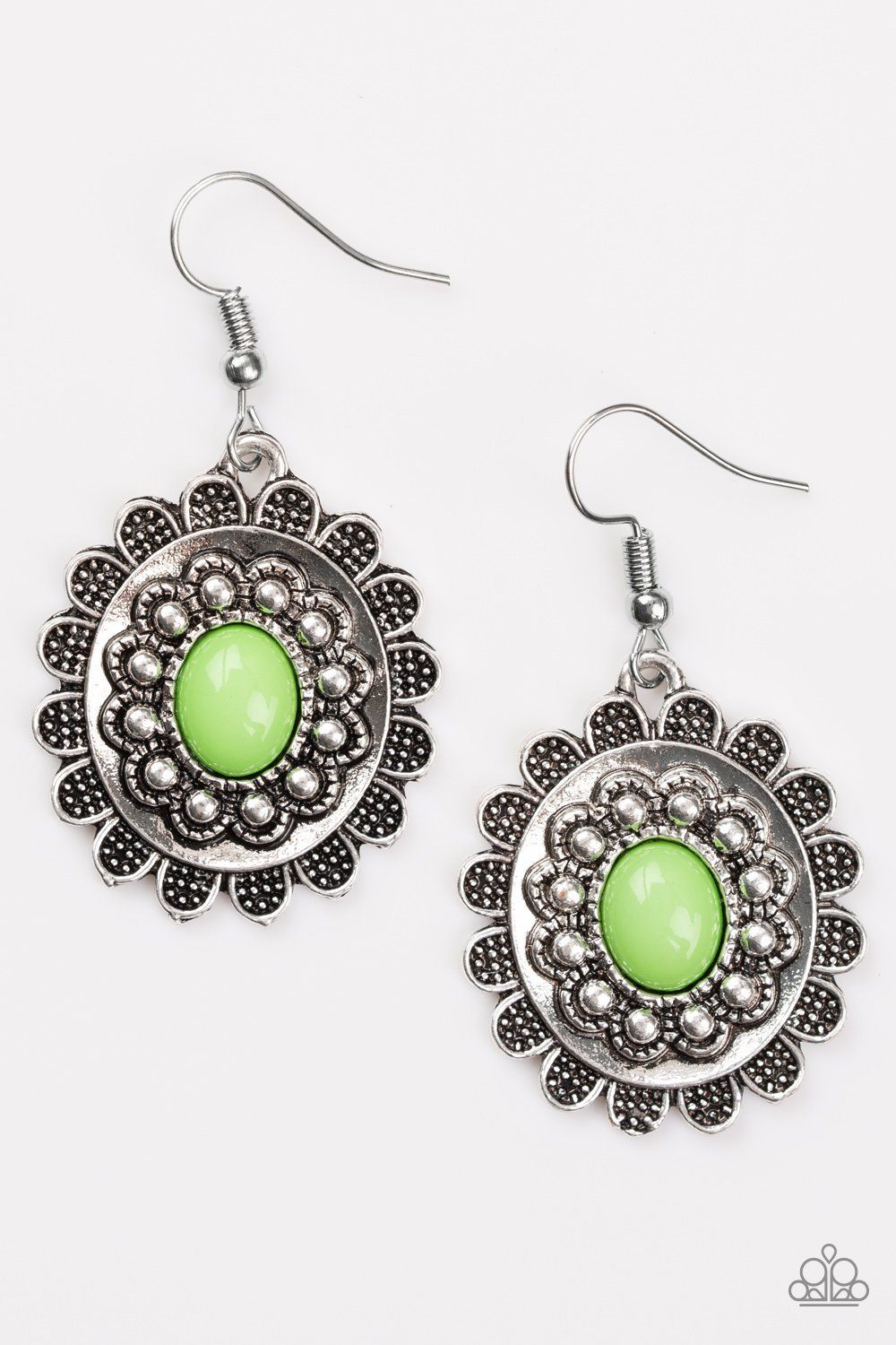 1dc45d92db1 Summer Blooms Green Earrings | Paparazzi Accessories | $5.00 in 2019 ...