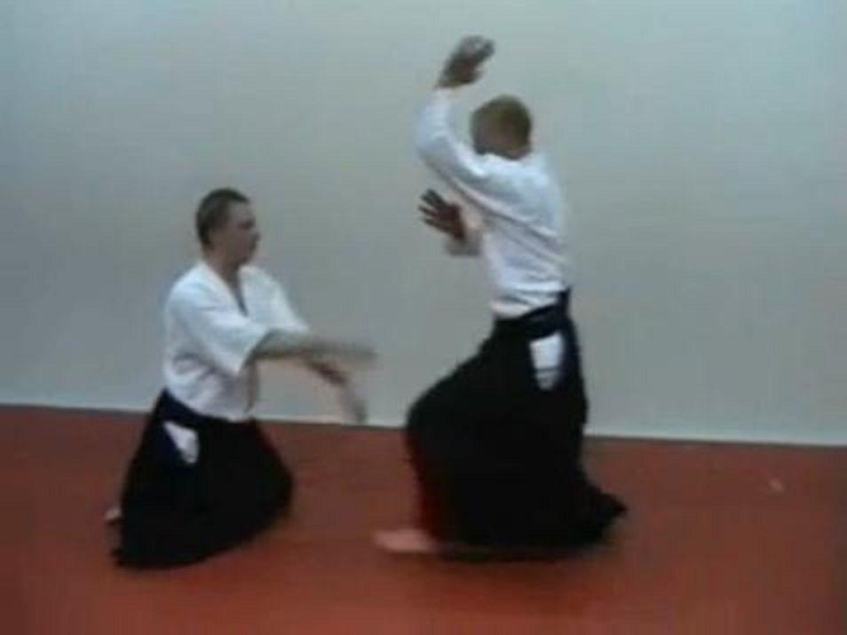 hanmi handachi shomenuchi - Aikido techniques | Self Defense
