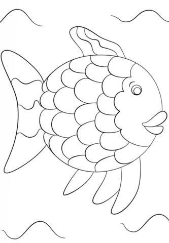 Disegno Da Colorare Di Il Pesce Arcobaleno Categorie Arcobaleno