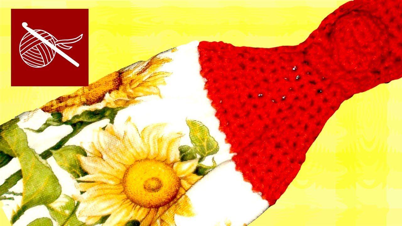 Crochet Towel Top -- crocheted hanging dish towel | Crafting ...