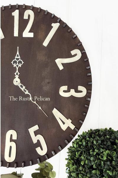 Large wall clocks in 2018 Farmhouse Decor Pinterest Home Decor