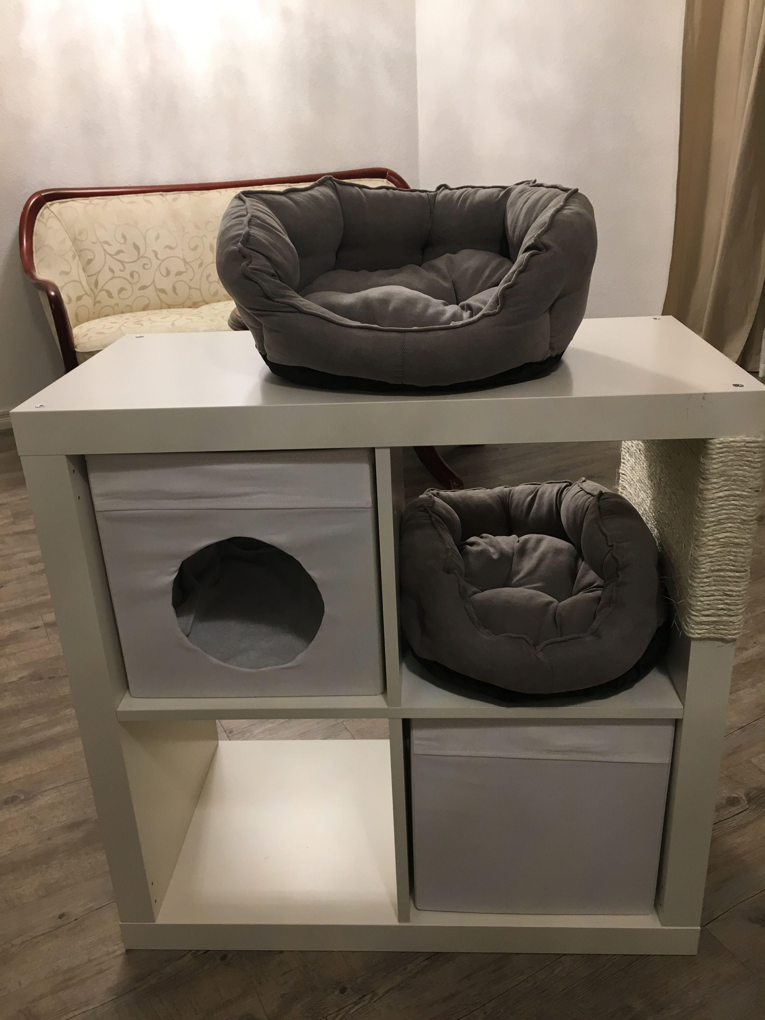 kratzbaum kallax katze kratzbaum diy pinterest ikea hack and cat. Black Bedroom Furniture Sets. Home Design Ideas