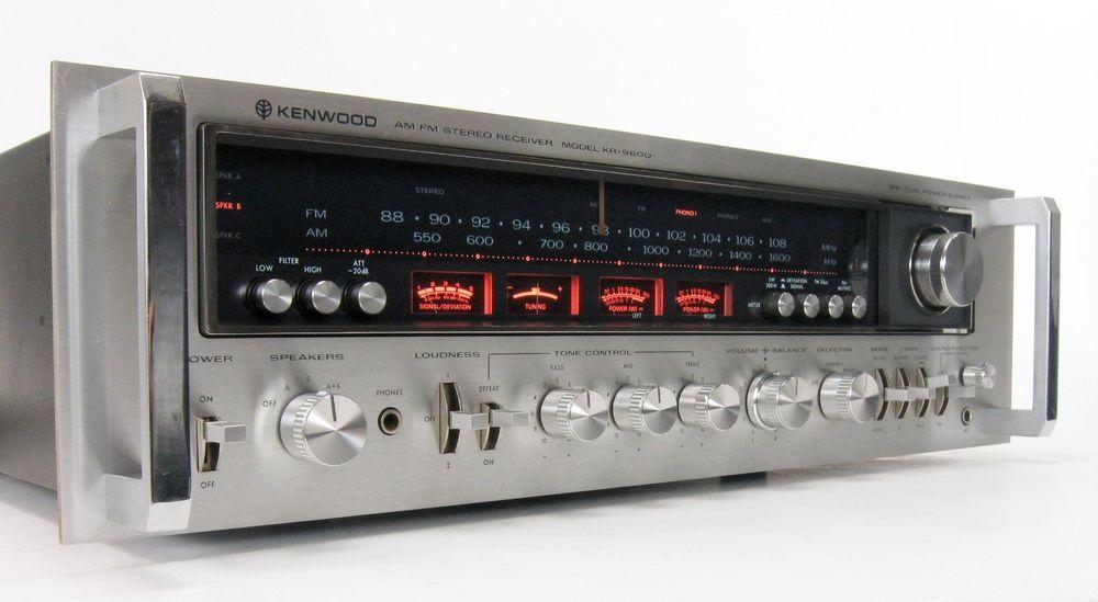KENWOOD KR-9600 VINTAGE MONSTER RECEIVER 160 WPC WORKING