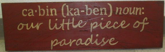 cabin sign dictionary definition style by paintdistresshang, $20.00.