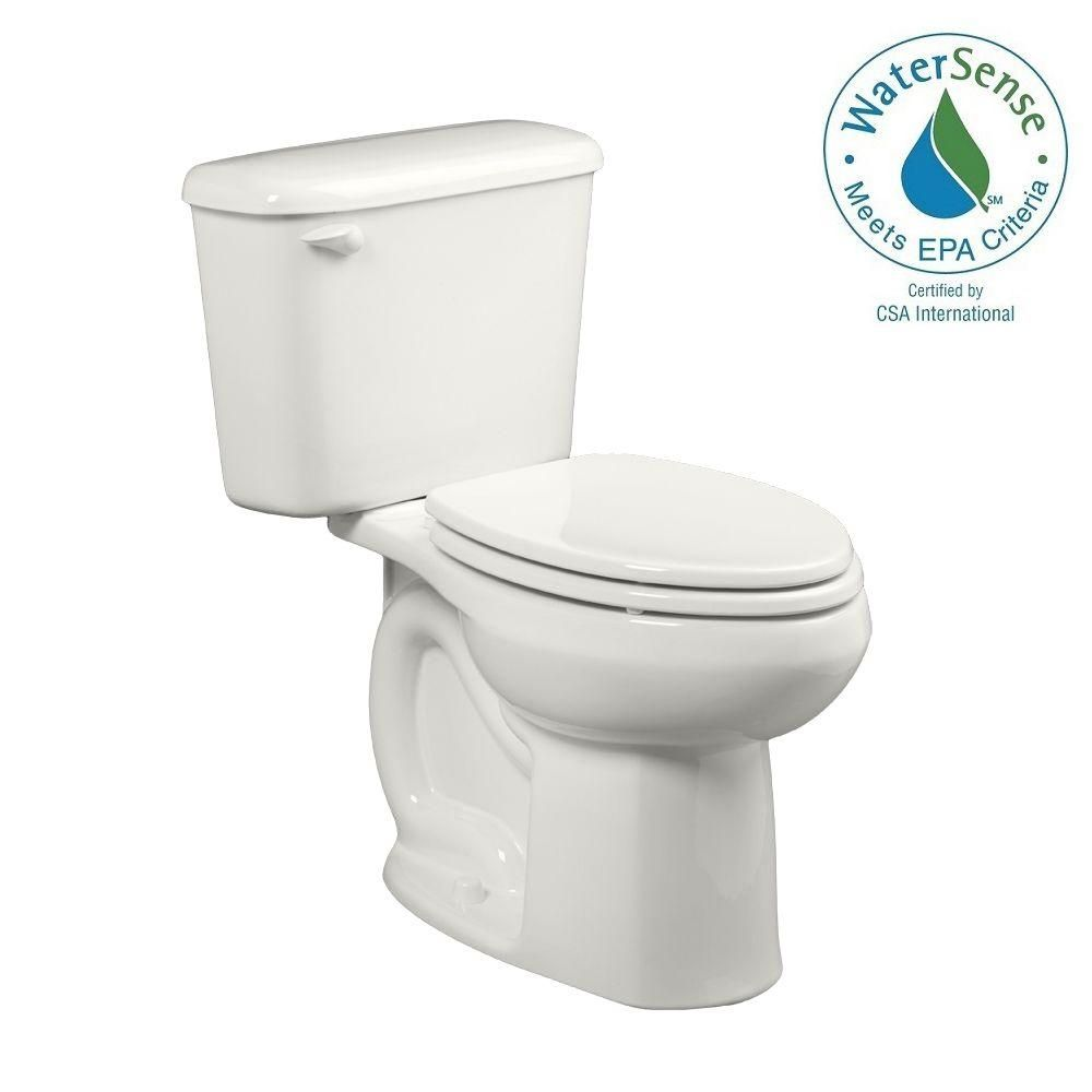 American Standard Colony 2-piece 1.28 GPF Right Height High-Efficiency Elongated Toilet for 10 in. Rough in White