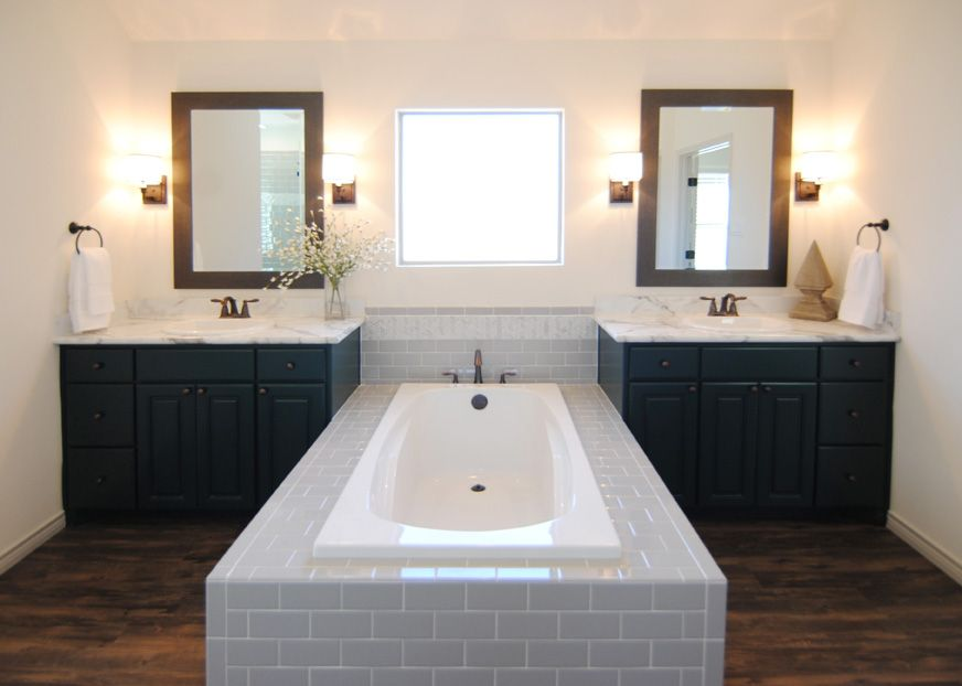 How To Paint Vinyl Bathroom Cabinets master bathroomventura homes in lubbock, texas / double