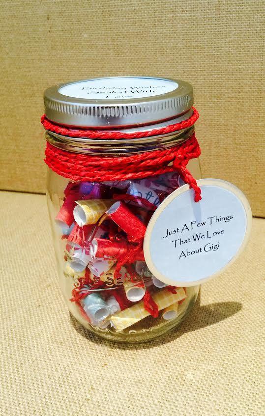 Message Filled Mason Jar Birthday Jar Mason Jar Birthday Mason Jars Love Jar
