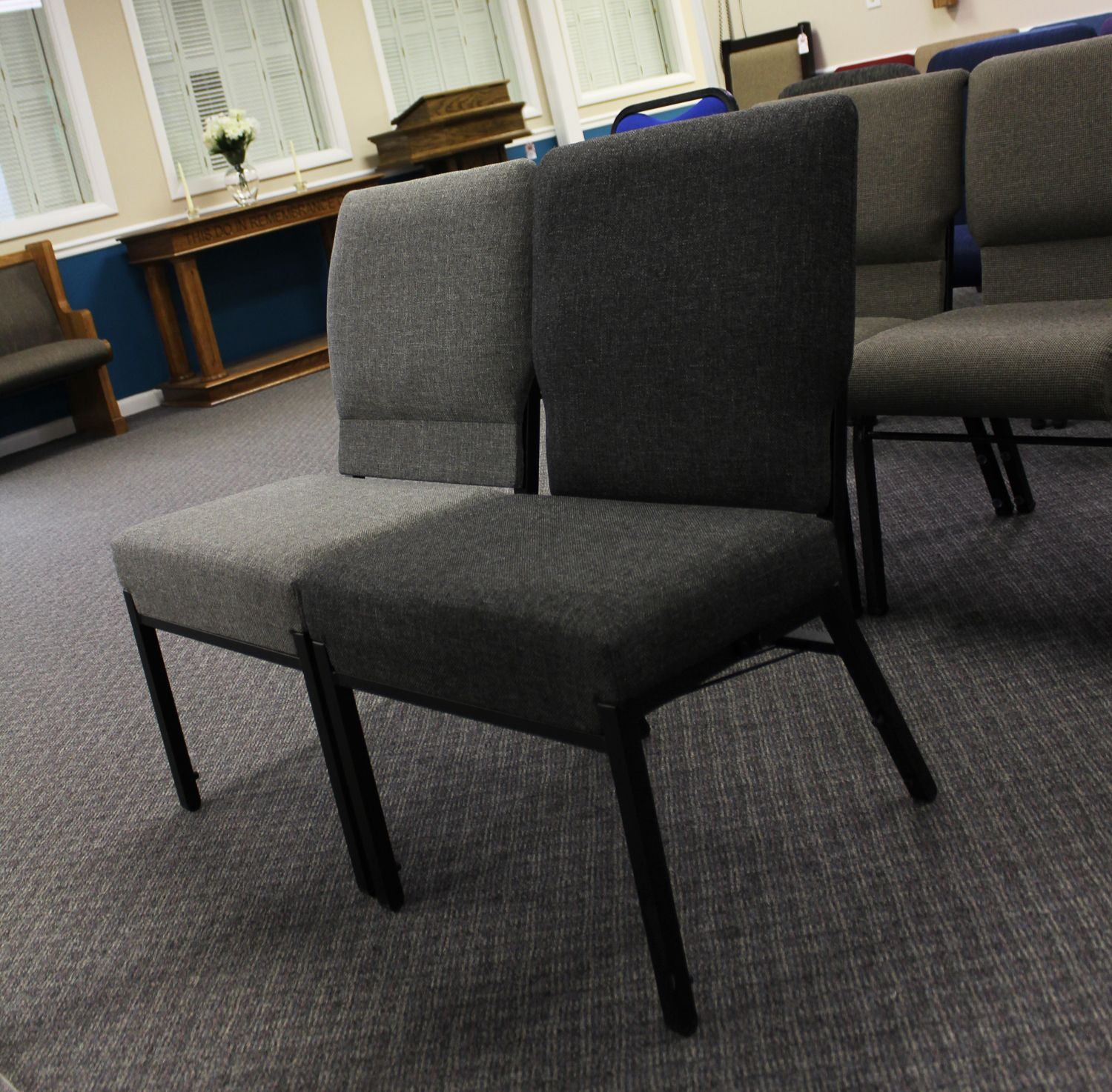 Factory Sale Interlocking Padded Church Chair With Images