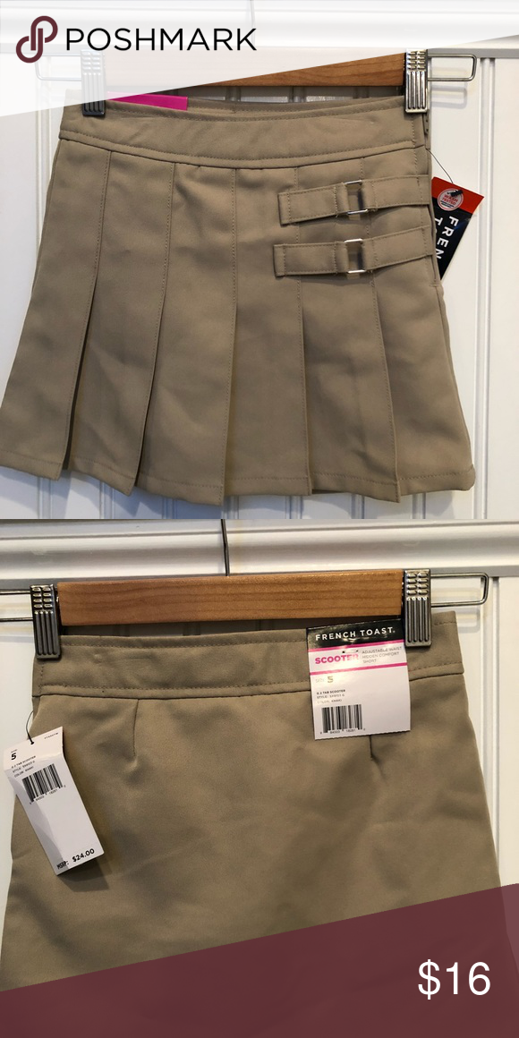 6c8c25992d French Toast Khaki Scooter/Skort New with tags - uniform approved  scooter/skort for girls. Pleated front, plain back. Under the skirt are  khaki stretchy ...