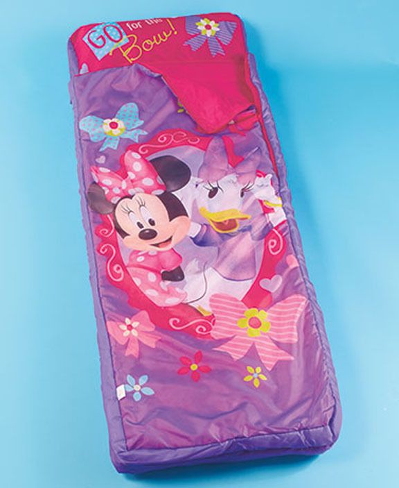 Minnie Mouse Inflatable Sleeping Bags Up Air Mattress Sleepover Kids Bed