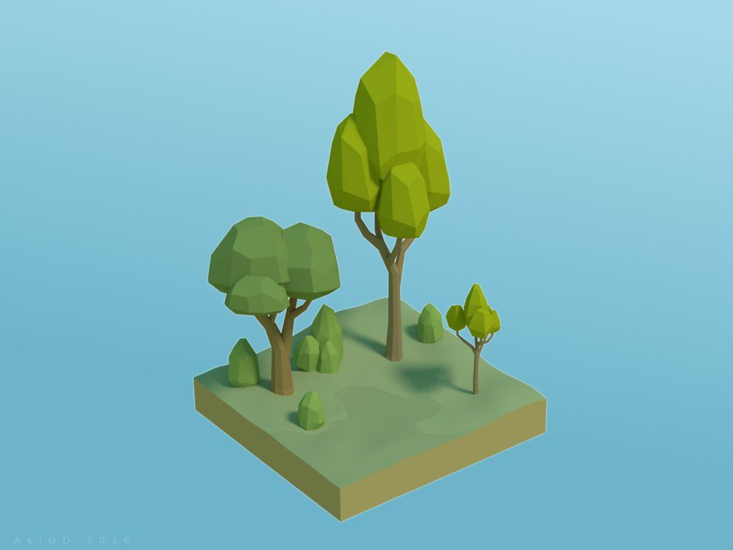 Simple Vegetation [Low-Poly] by AkiGD on DeviantArt