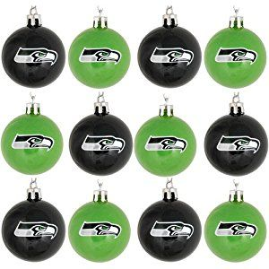 amazoncom nfl ball ornament set of 12 nfl team seattle seahawks home kitchen - Nfl Christmas Day Game 2014