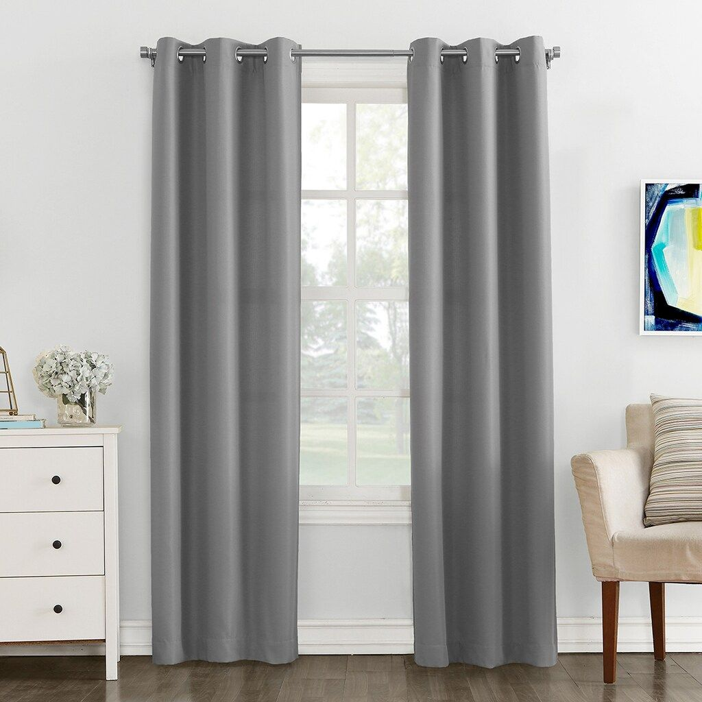 The Big One 2 Pack Decorative Solid Window Curtains Solid