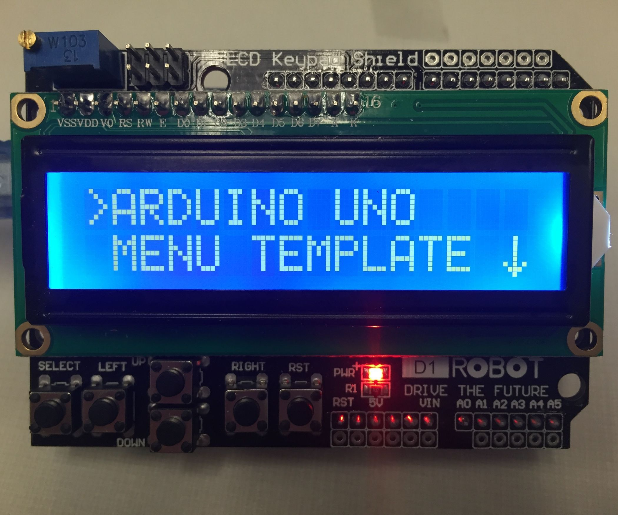 Arduino Uno Menu Template | automation | Arduino, Menu