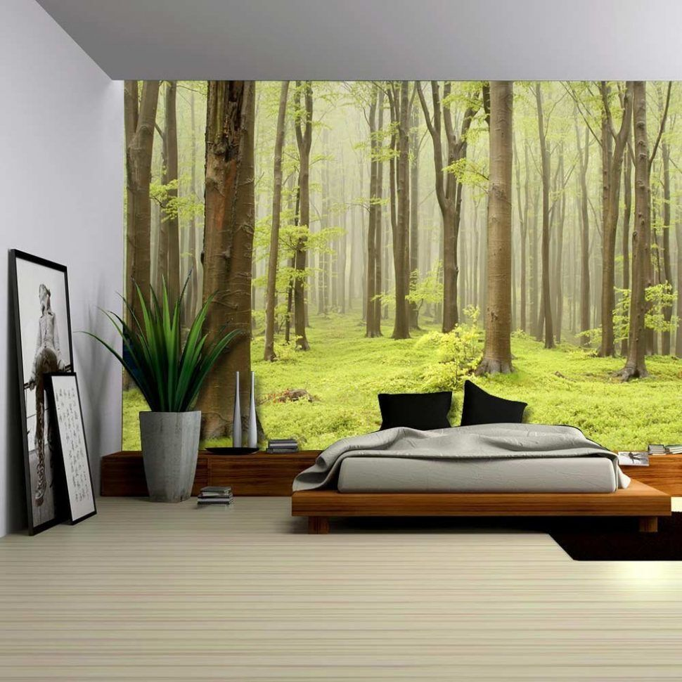 Uncategorizedenchanting forest wall mural painting nursery stickers decal ebay murals canada green misty sticker home decor forest wall mural bedroom