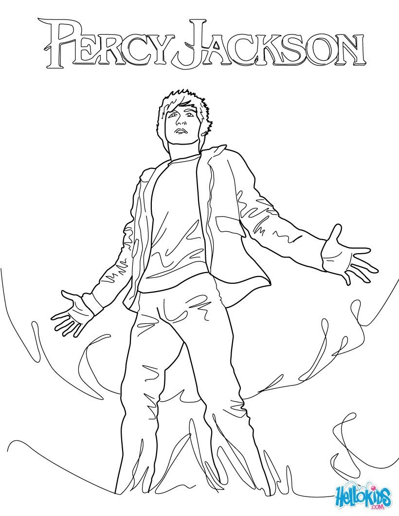 The Lightning Thief Coloring Page Percy Jackson Monster