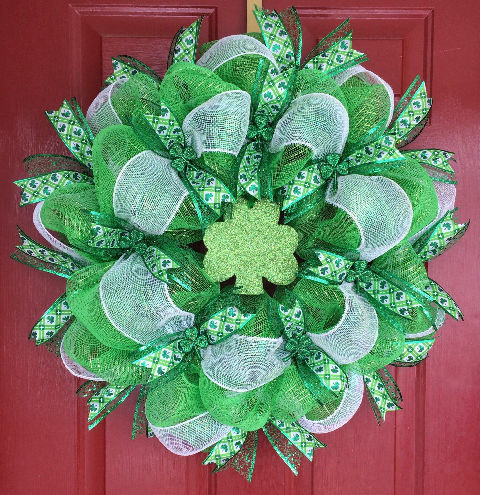 St. Patty's Shamrock wreath by KA Wreath Design Diy