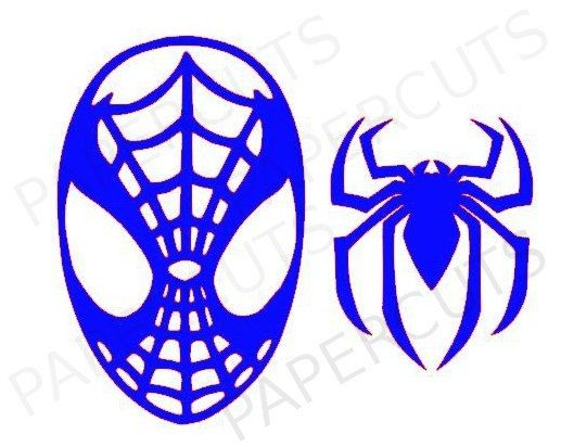 spiderman digital cut files for cameo or silhouette machines instant