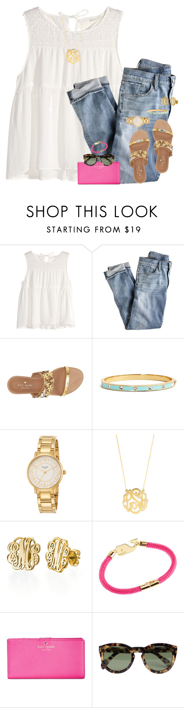 """""""hope!!!"""" by gourney ❤ liked on Polyvore featuring H&M, J.Crew, Kate Spade, BaubleBar, Vineyard Vines, CÉLINE, women's clothing, women, female and woman"""