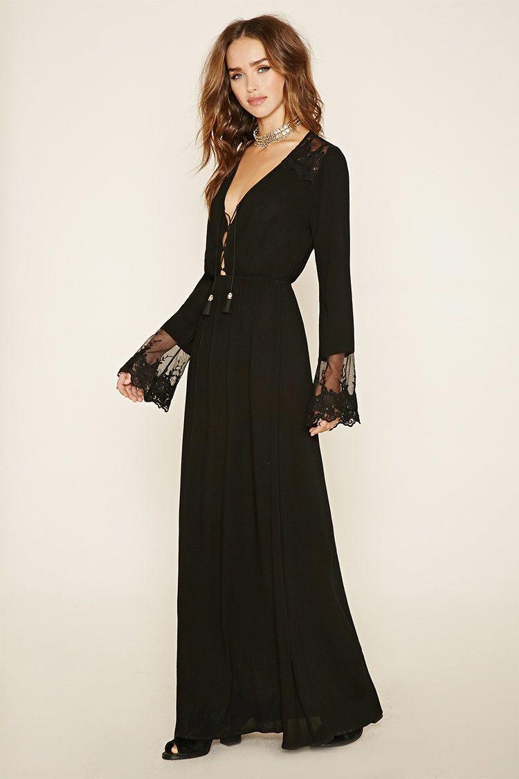 Maxi long sleeve dresses forever 21