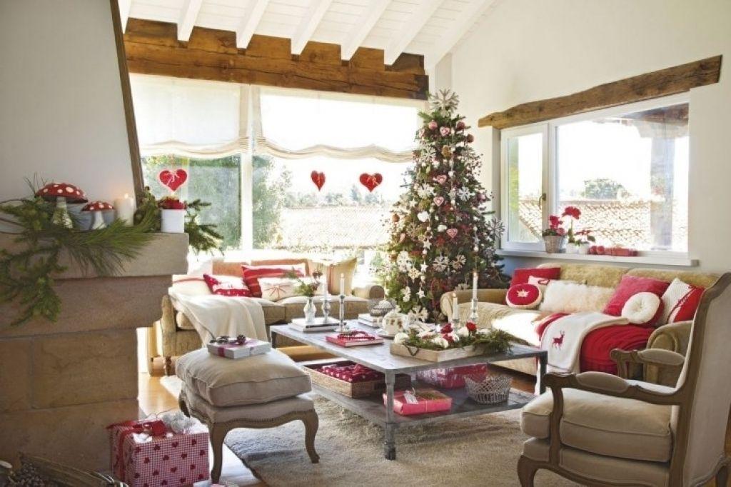 dekoideen wohnzimmer weihnachten deko wohnzimmer rot wohnzimmer ...