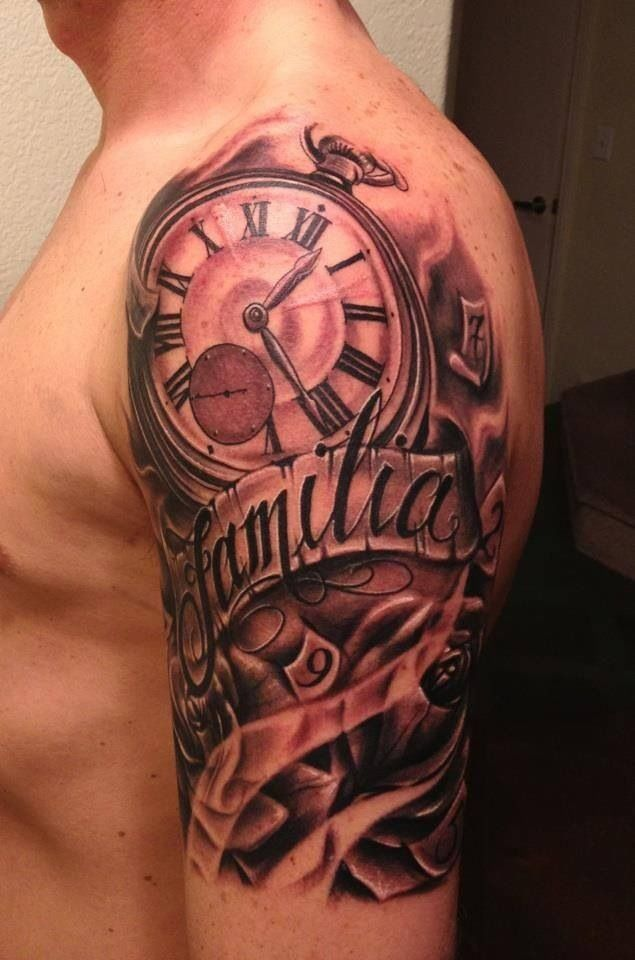 Half Sleeve Tattoo Cost: Watch Tattoos, Time Tattoos