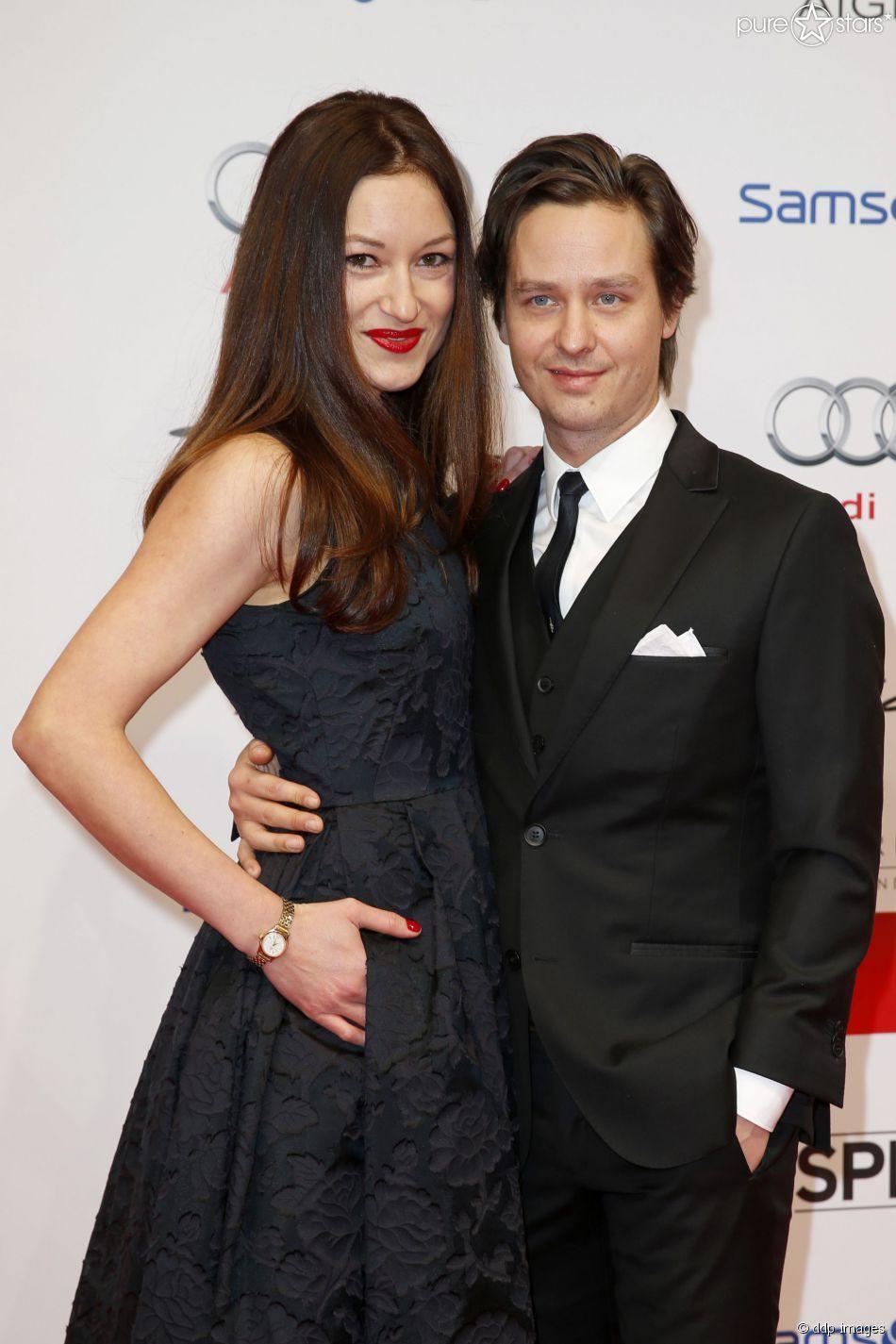 Tom Schilling und seine Lebensgefährtin Annie Mosebach am 17. Januar 2015 beim Deutschen Filmball in München.