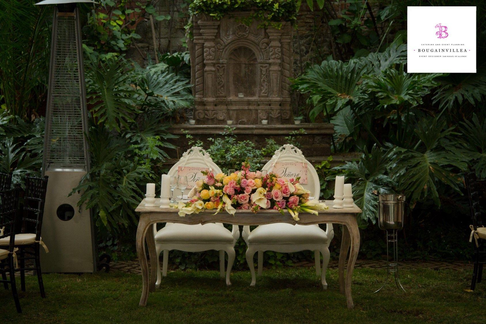 La mesa de novios, un detalle muy importante para www.bougainvilleabodas.com.mx – Wedding Planner  el día de tu Boda en San Miguel de Allende, Guanajuato, México.