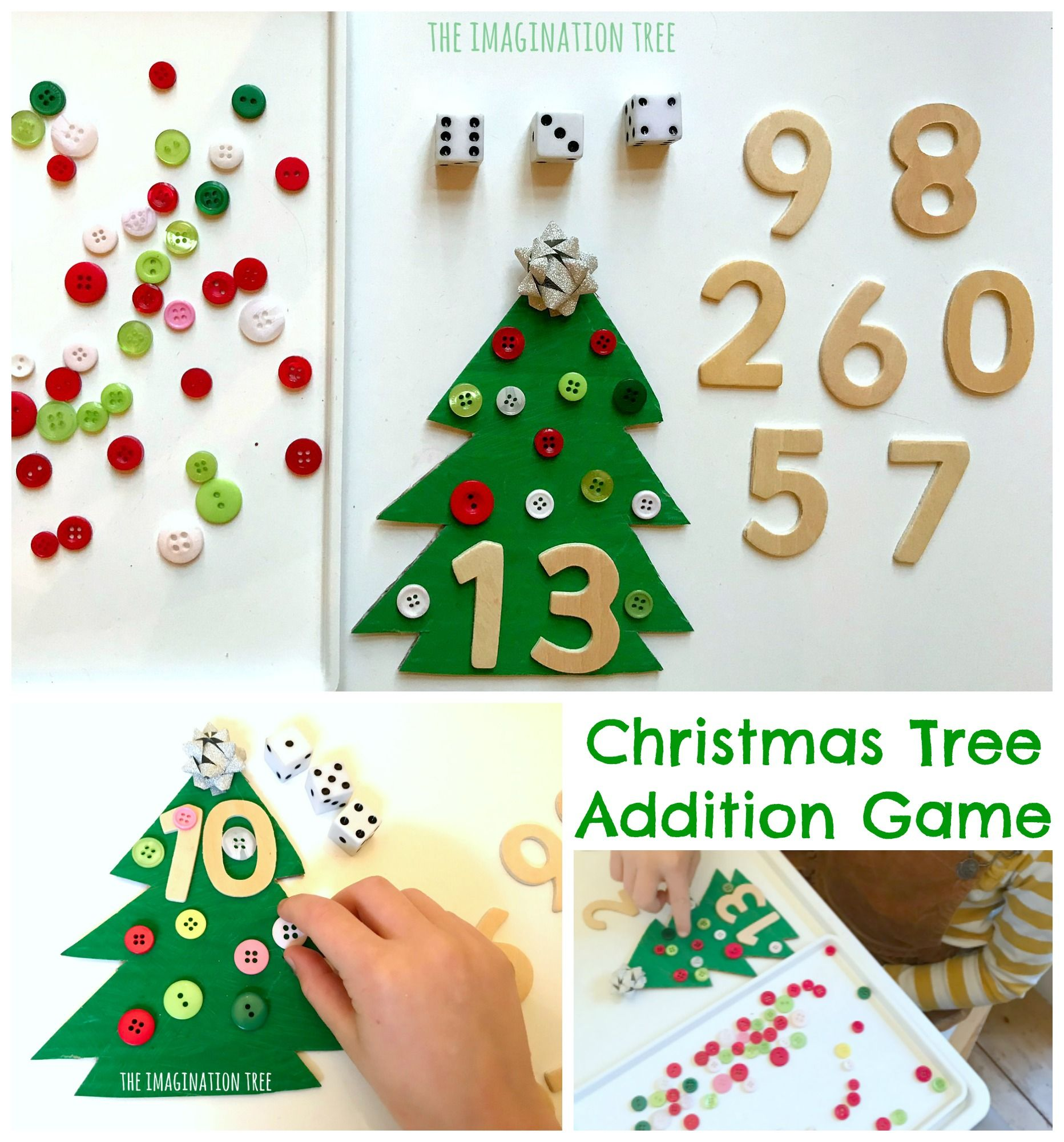 Christmas Tree Addition Game The Imagination Tree Christmas Addition Imagination Tree Addition Games