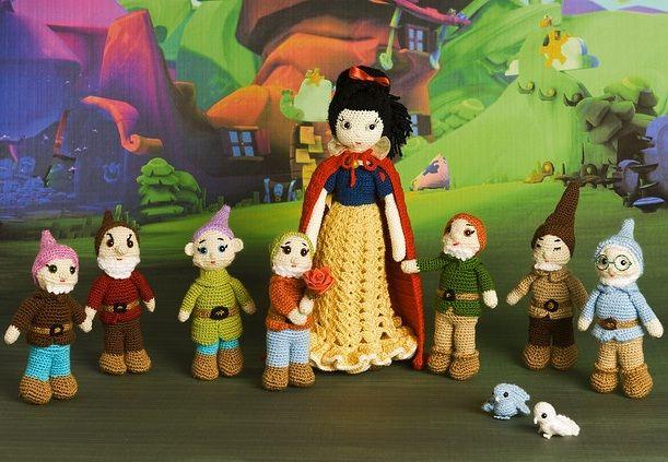 Amigurumis Personajes De Disney : Recomendaciones del tejedor blancanieves blancanieves muñecas