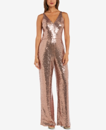 a4763ab7be5c Nightway Petite Sequined Jumpsuit - Gold 10P in 2019