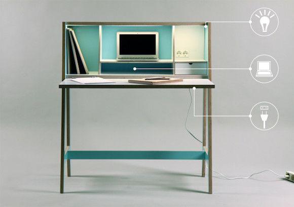 Klein Sekretar Schreibtisch Minimalistische Tisch Schrank