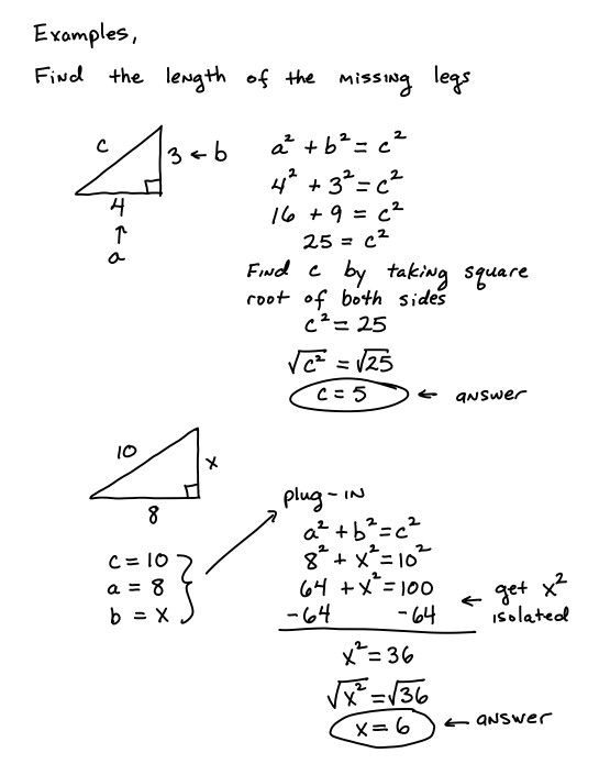 Pythagorean Theorem  Math Review    Pythagorean