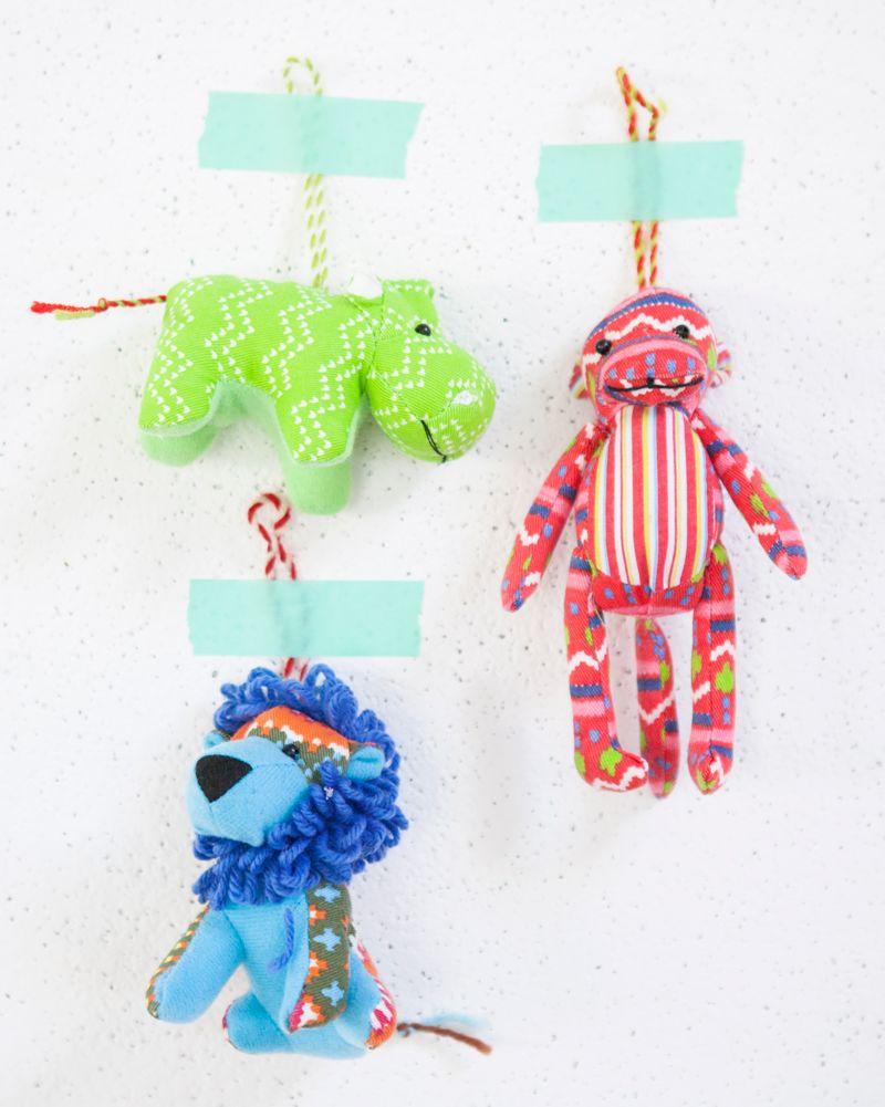 Mini Fabric Animal Ornaments Double As Cute Stocking Stuffers Or Present Toppers Holiday Ornaments Diy Christmas Craft Projects Handmade Christmas