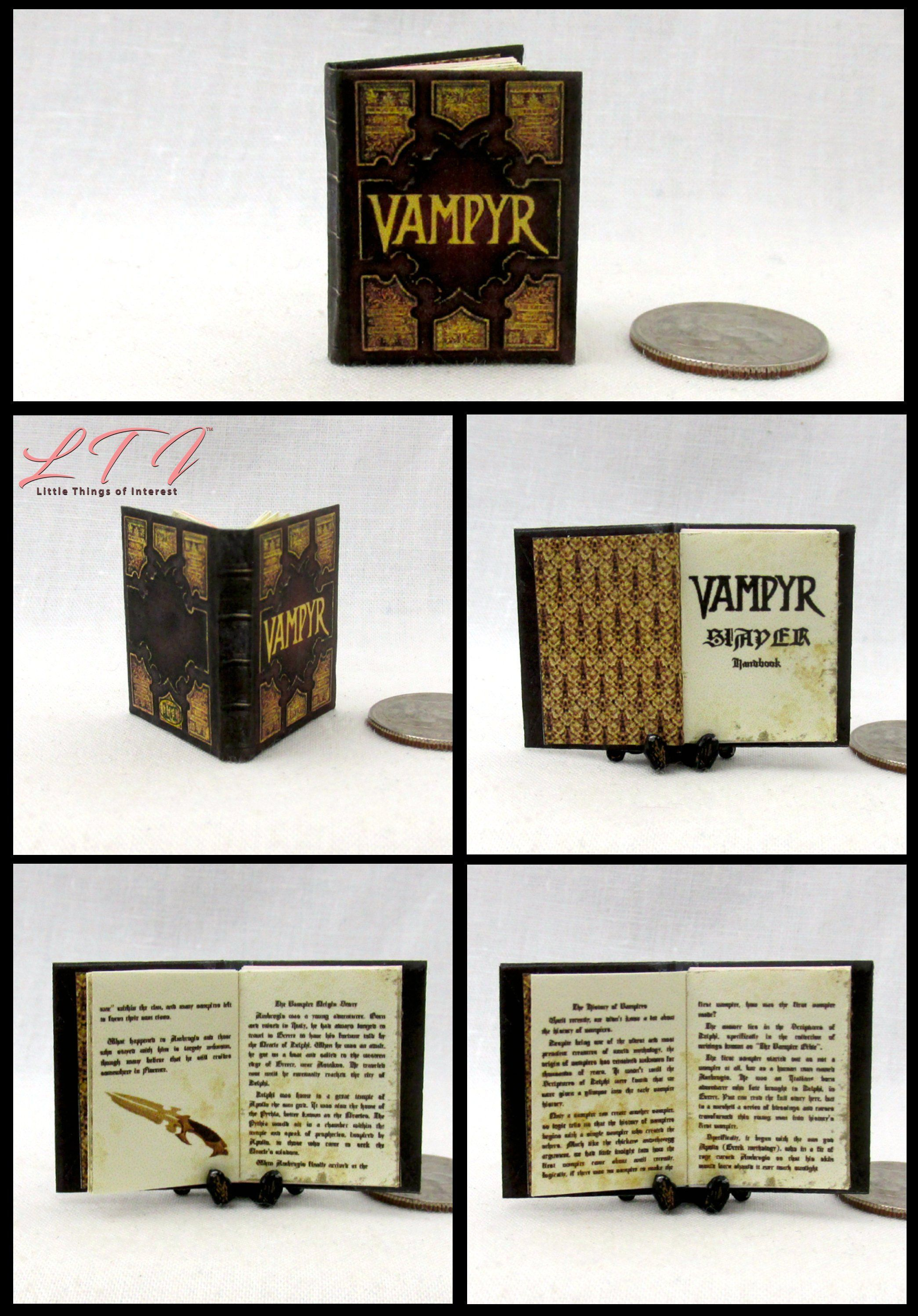1:12 SCALE MINIATURE WIZARD BOOK A HISTORY OF MAGIC