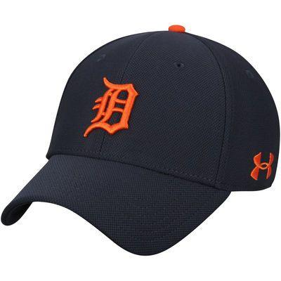 9402680964cef Men s Under Armour Navy Orange Detroit Tigers Blitzing Performance Adjustable  Hat
