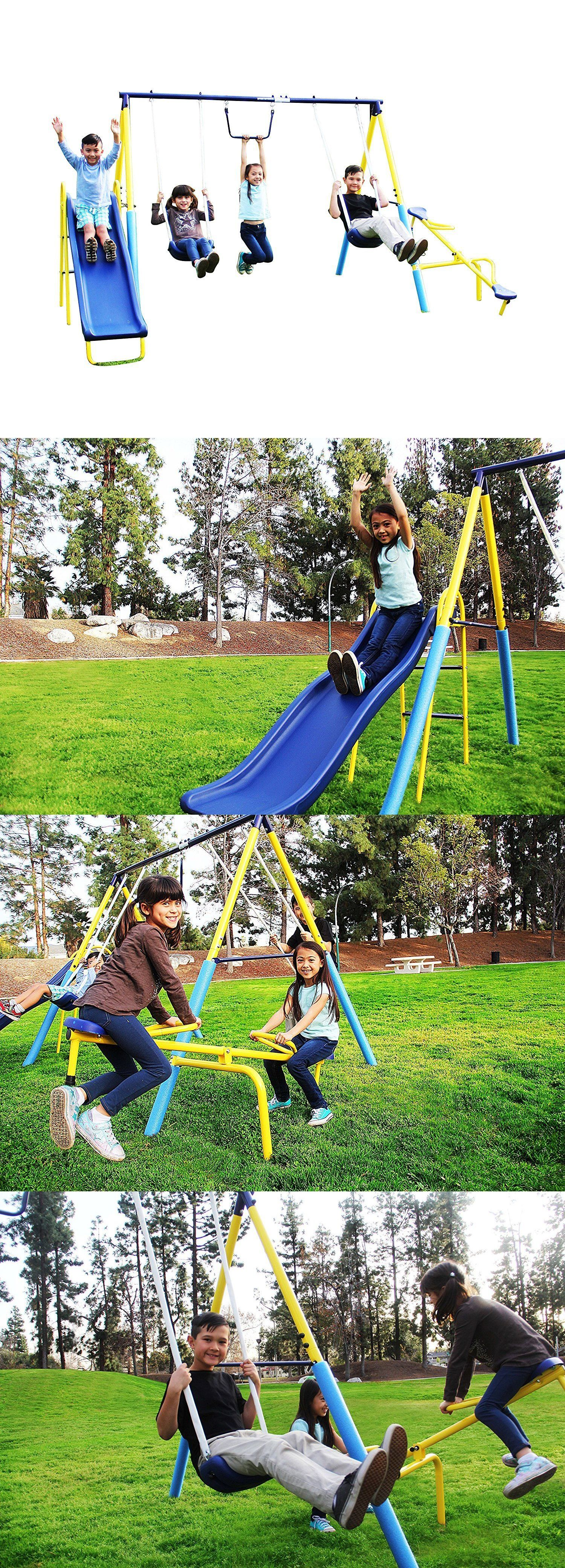 swings slides and gyms 16515 playground metal swing set outdoor
