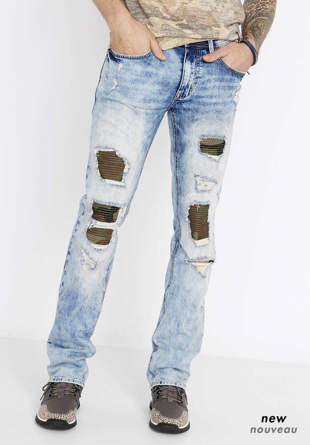 da80a4a9 Buffalo David Bitton Evan X Buffalo Jeans, Vintage Denim, Ripped Jeans, Men  Fashion