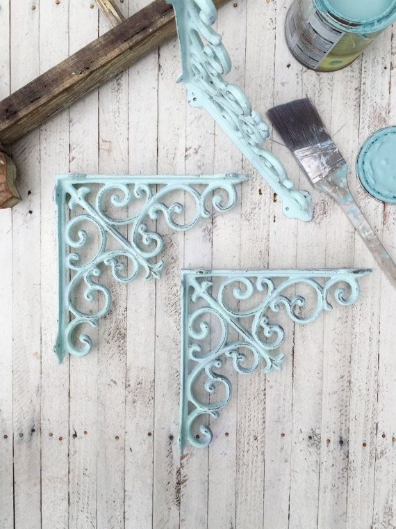 Large Cast Iron Brackets Plant Hangers Shelf By Camillacotton