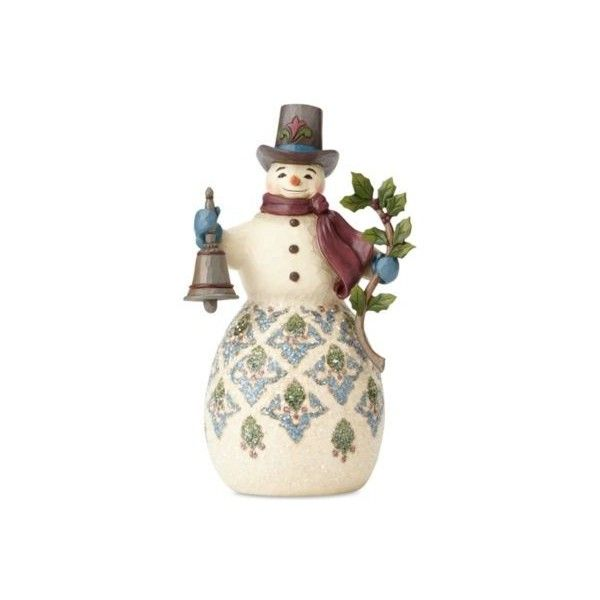Jim S Victorian Snowman With Bell Figurine 41 Liked On Polyvore Featuring