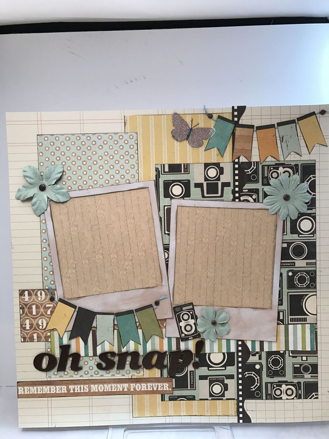 How to scrapbook polaroids