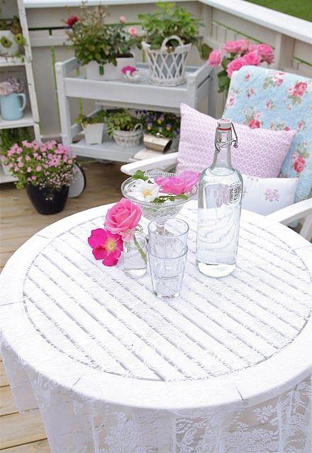 shabby chic terrace   dine alfresco   Pinterest   Shabby, Balconies ...