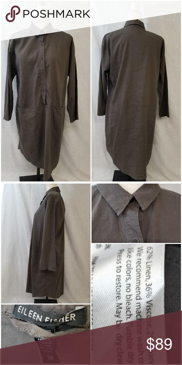 Eileen Fisher Shirt Dress Size Small Eileen Fisher Shirt Dress Size Small Materials Are 62 Linen 36 Viscose Clothes Design Eileen Fisher Dress Fashion Design