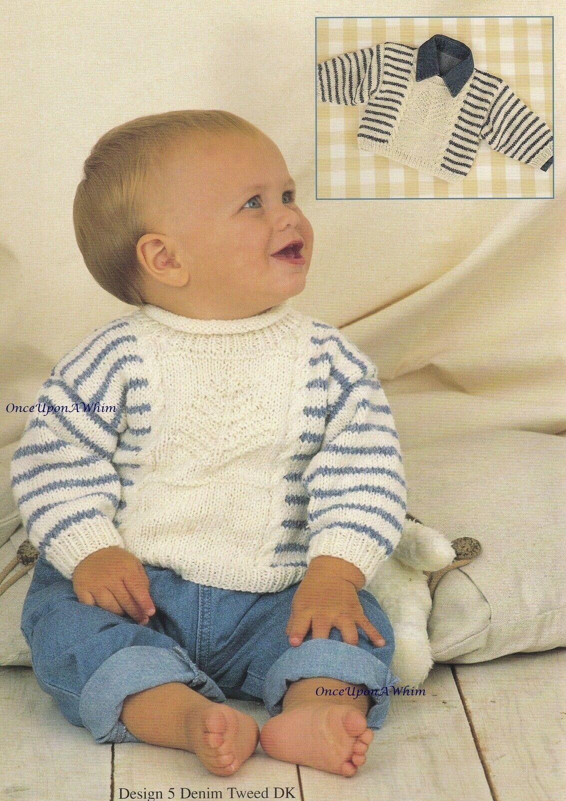 Babies In Denim Sirdar Baby Clothes Knitting Pattern Booklet 266