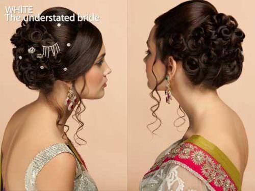 Lehenga Choli Hair Buns With Long Loose Ringlets Prom Hair In 2019