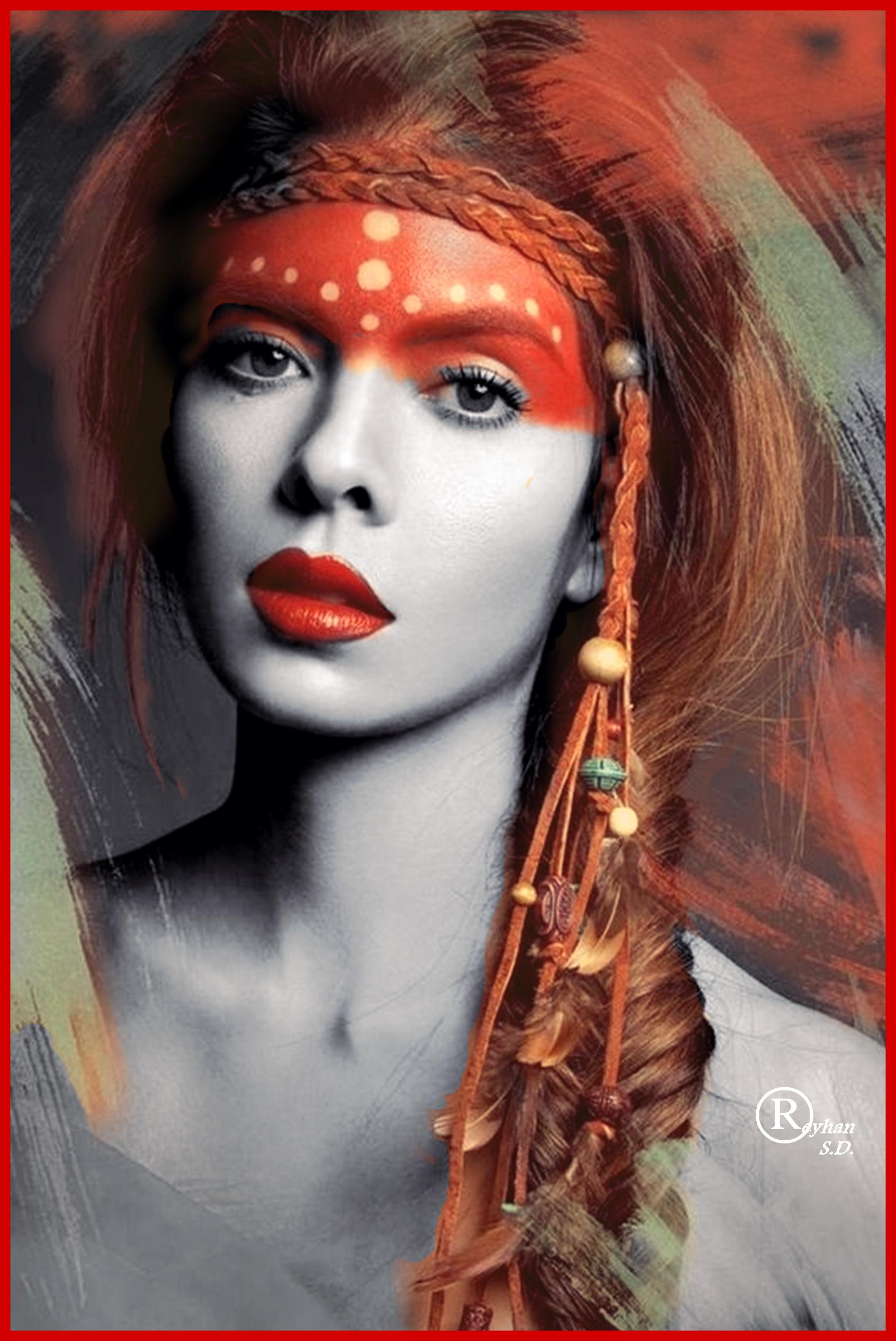 Color Splash by Reyhan S.D. Kadin yüzü, Bohem saç bandı