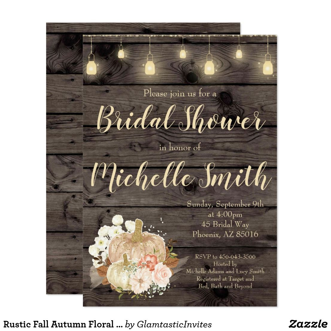 c0c74df7d0ac Rustic Fall Autumn Floral Bridal Shower Invitation Great rustic invitation  for that special day!!! ❤ Affiliate ad link. Wedding invites - customize  your ...